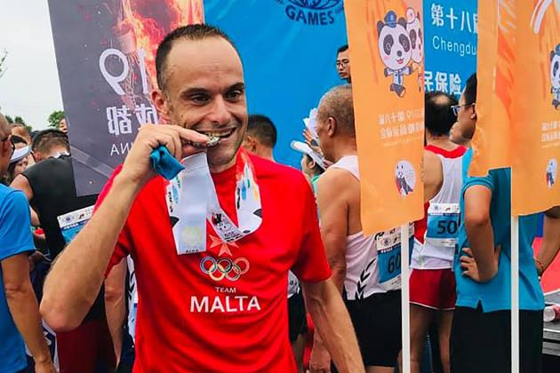 Grech wins silver in World Police and Fire Games