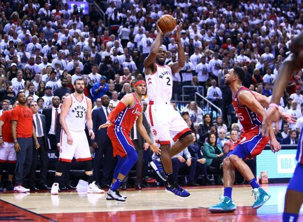 8bf4092b4 Watch  Raptors game seven hero Leonard bounces in winning buzzer beater