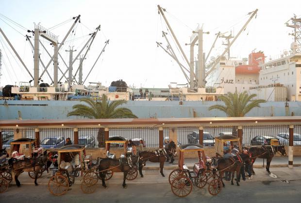 'Karrozzini' wait to pick up tourists in Grand Harbour on December 6. Photo: Chris Sant Fournier