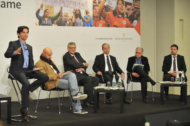 The panel at the debate organised by Times of Malta on November 30 steered by Herman Grech. Photo: Chris Sant Fournier