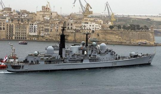 HMS York in Grand Harbour.