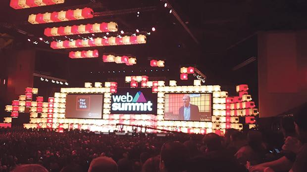 Sir Timothy John Berners-Lee, inventor of the World Wide Web, speaking during the opening night of the Web Summit.