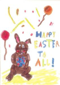 Easter bunny with his egg^^by Luigi Muscat Filleti, nine, of Swieqi