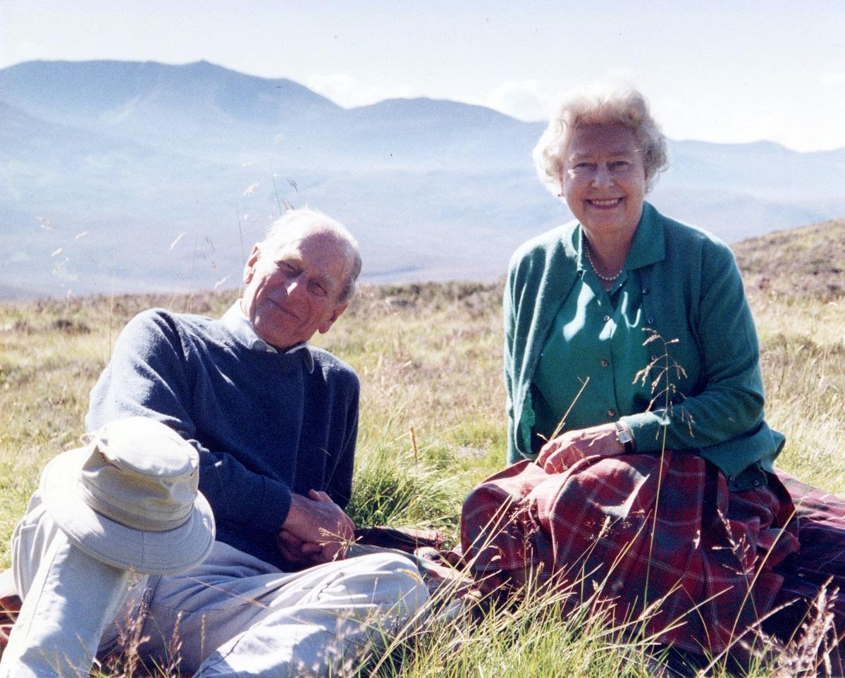 A handout photograph taken by Britain's Sophie, Countess of Wessex, and released by Buckingham Palace on April 16, 2021, shows Britain's Queen Elizabeth II and her husband Britain's Prince Philip in 2003. Photo: AFP
