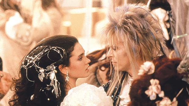 Jennifer Connolly and David Bowie in Labyrinth (1986)