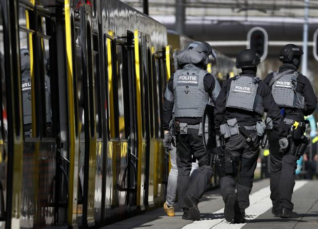Police at the scene of the attack. Photo: AFP