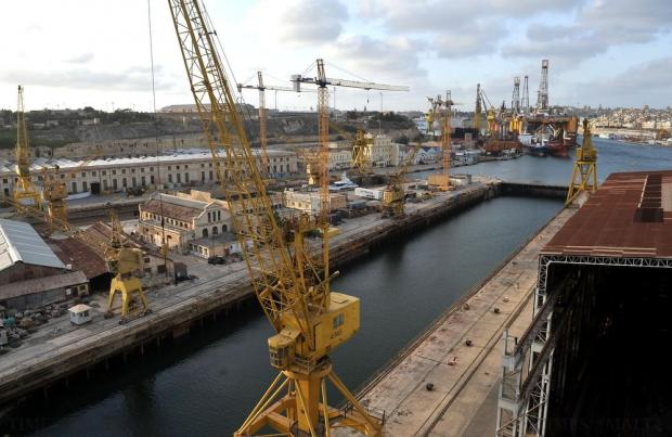 The Palumbo Shipyard in the Grand Harbour on October 14. Photo: Chris Sant Fournier