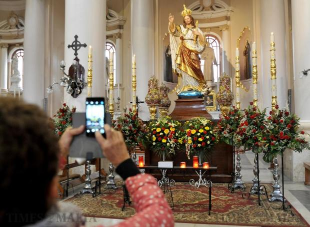 The statue of Christ the King on display at the Paola parish church on November 19. Photo: Chris Sant Fournier