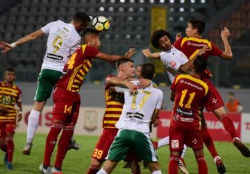 Late goals sink 10-man Floriana