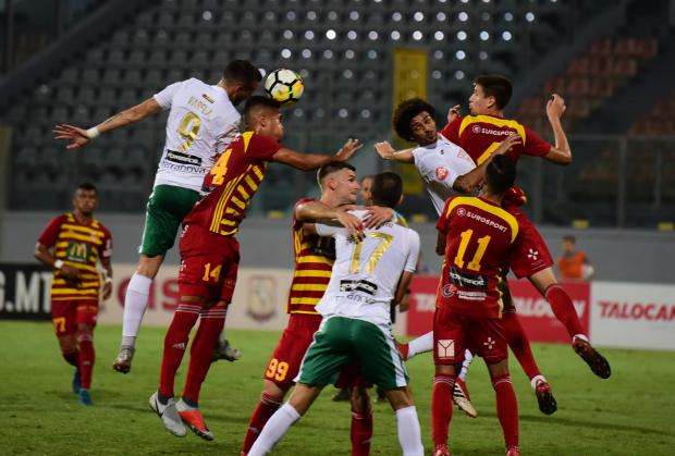 Birkirkara needed two late goals to overcome Floriana. Photo: Mark Zammit Cordina