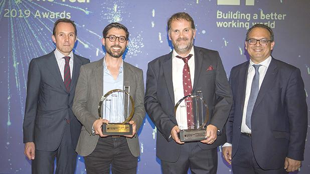 From right: Harald Roesch, CEO at Melita, David Darmanin from Hotjar, Ben Remfrey from Praedium Consulting and Ron Attard, EY Malta managing partner.