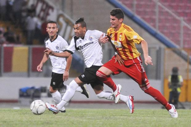 Luis Edison Tarabai (centre) was approached by Premier League side Birkirkara.