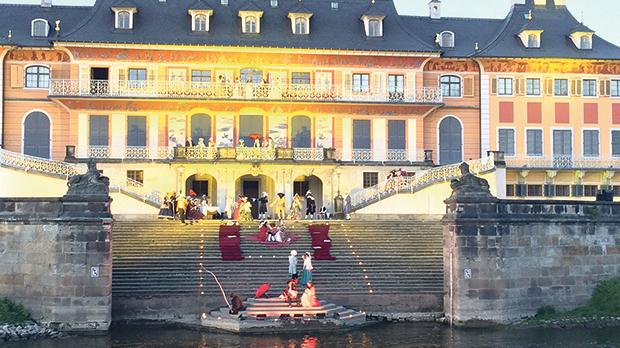 An old palace in Dresden comes to life.
