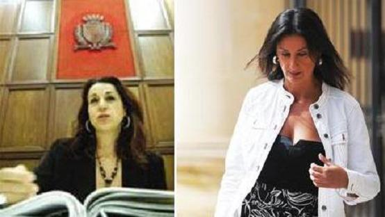File pictures: Magistrate Consuelo Scerri Herrera and Daphne Caruana-Galizia.