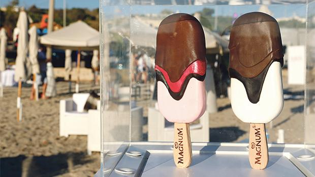 Magnum ice creams went down a treat during the after-party on the beach.