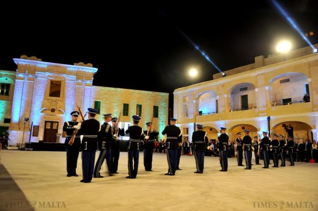 The police band performs at the inauguration of the newly-restored upper Fort St Elmo on May 8. Photo: Jason Borg