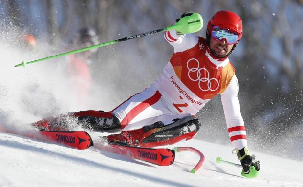 Marcel Hirscher won the gold medal in the men's combined event.