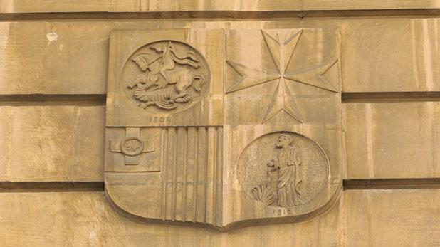 The emblem of the National Bank of Malta