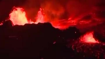 Watch: Hawaii's volcano shoots lava into the ocean
