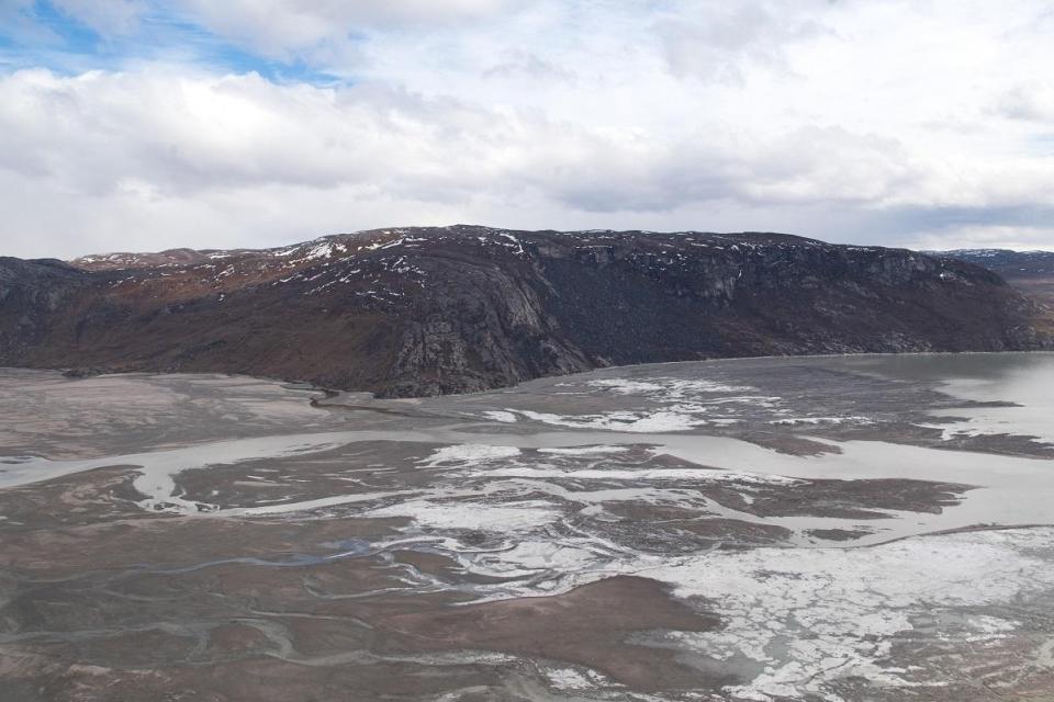 Áreas de Groenlandia vistas desde el aire.  Foto: AFP