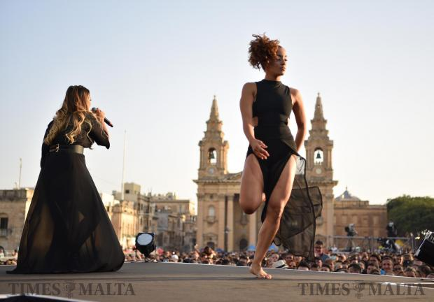 Maltese singer Christabelle preforms at the Granaries in Floriana at the Isle of MTV Festival on June 27. . Photo: Mark Zammit Cordina