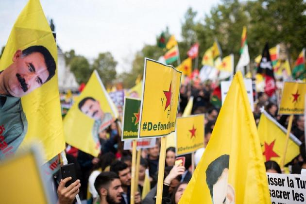Thousands in Europe march against Turkey's Syria offensive