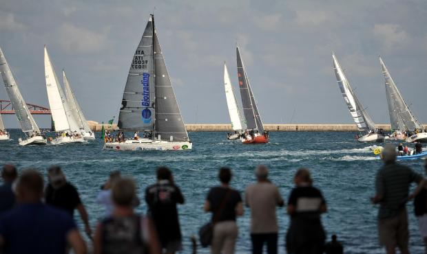 Sailboats tack as they make their way towards the mouth of the Grand Harbour moments after the start of the Rolex Middle Sea Race on October 21. Photo: Chris Sant Fournier