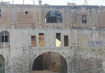 The Knights' arsenale and sail loft above are dire need of restoration.