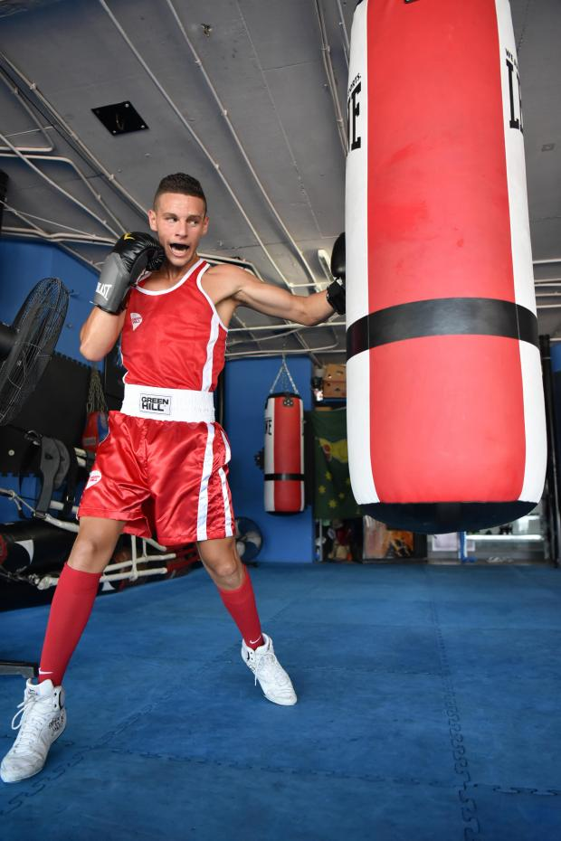 Maltese Boxer Miquel Cauchi hopes to be Malta's first Olympic boxing representative at a gym in St Julians on July 14. Photo: Mark Zammit Cordina