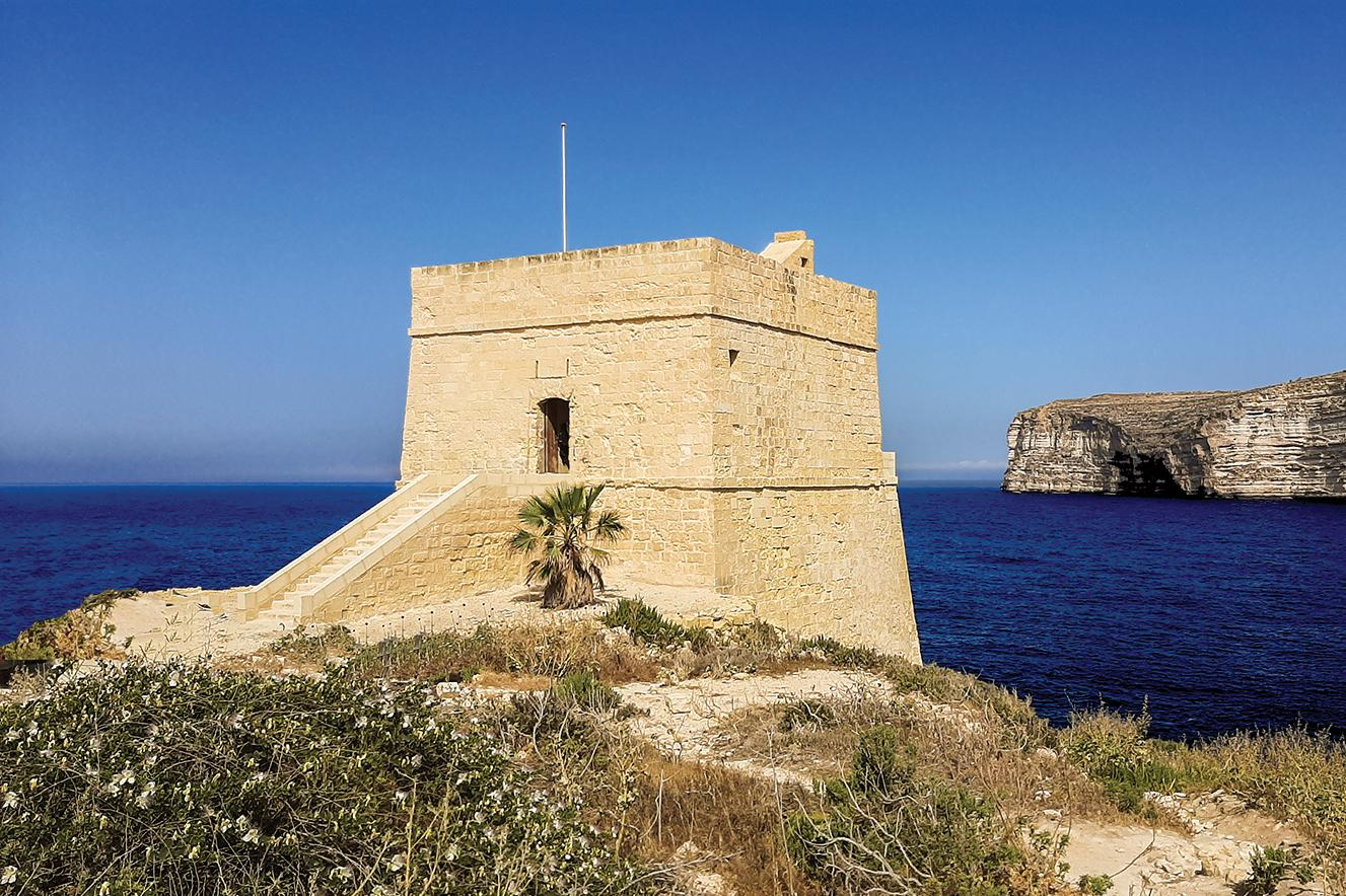 Xlendi Tower, which was built in 1650 by the Order of the Knights of St John, was recently restored by the Munxar local council and the NGO Wirt Għawdex. Photo: Giovanni Zammit