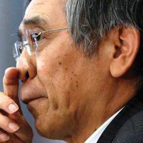 Bank of Japan Governor Haruhiko Kuroda during a news conference at the BOJ headquarters in Tokyo. Photo: Yuya Shino/Reuters