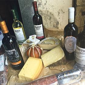 Terramatta wine served with local cheeses.