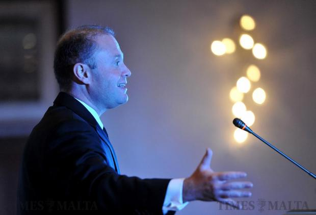 Prime Minister Joseph Muscat addresses a conference on changing the employment and industrial relations law on November 18. Photo: Chris Sant Fournier