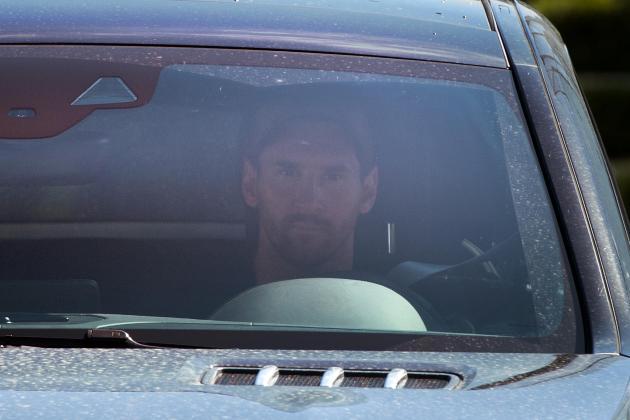 Messi returns to Barcelona training ground
