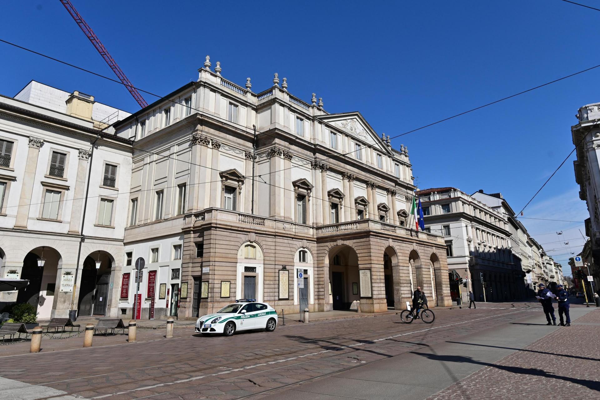 La Scala opera house in central Milan. Photo: Miguel Medina/AFP