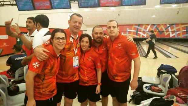 The Unified Bowling team won the gold medal in Abu Dhabi.