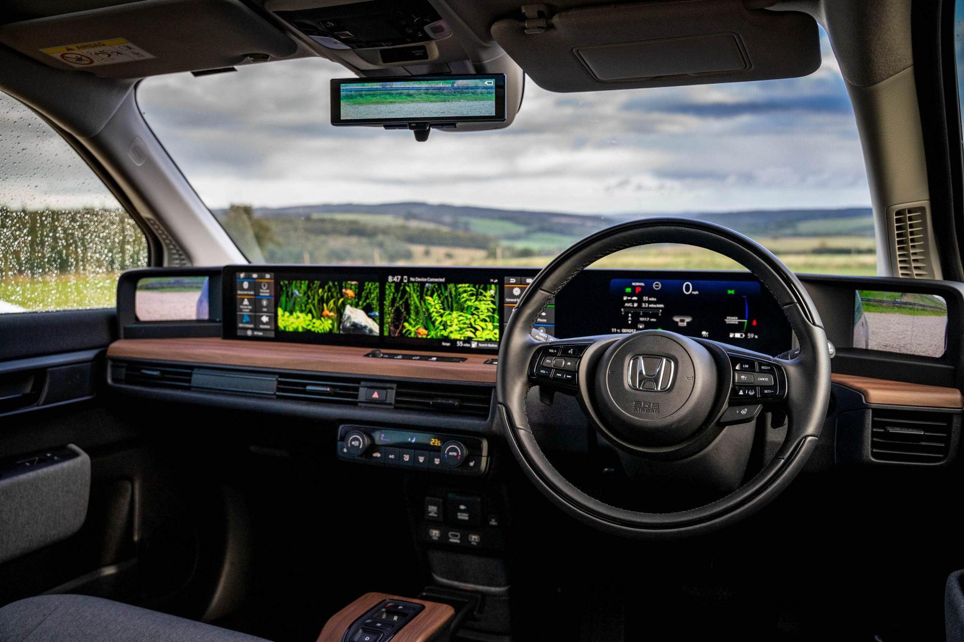 The interior of the e is impressively futuristic.