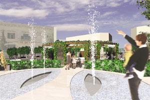 Artist`s impression of the new Spinola Garden