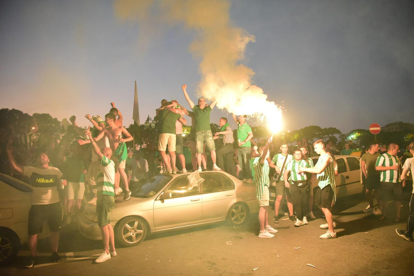 Hugs and celebrations as social distancing rules are forgotten during Floriana celebrations. Photo: Mark Zammit Cordina