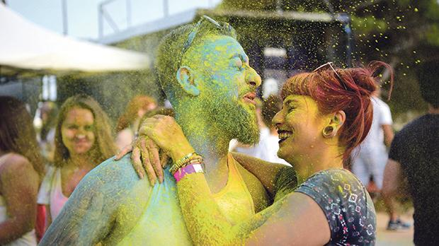 "Inspired by the Hindu spring festival, Holi Malta 2018 was held, two weeks ahead of autumn. The organisers encouraged people to throw colourful powder into the air to express freedom and ""to colour their everyday life"" while celebrating the equality of all."