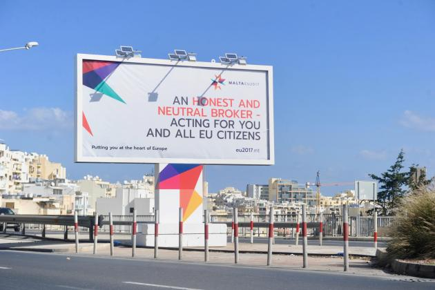 Three billboards outside Valletta, Malta