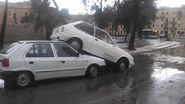 "The scene in Msida as the rainwater subsided - Picture A Stafrace - <a href=""mailto:mynews@timesofmalta.com"" target=""_blank"">mynews@timesofmalta.com</a>"