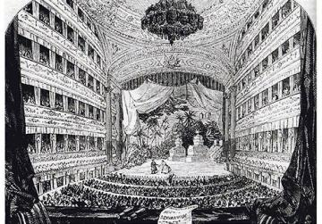 Royal Italian Opera House, Covent Garden - Performance of Semiramide in 1847.