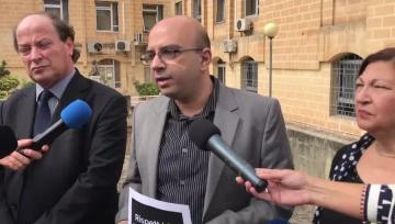 Watch: MUT caught off-guard as Muscat goes public with offer to teachers' union | Marco Bonnici speaking to the press. Video: Mark Zammit Cordina