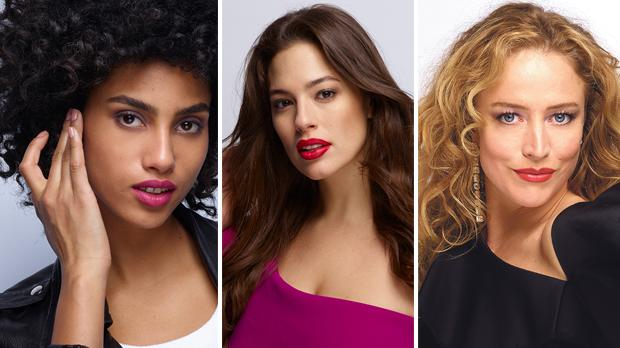 From left: Imaan Hammam, Ashley Graham and Raquel Zimmermann.