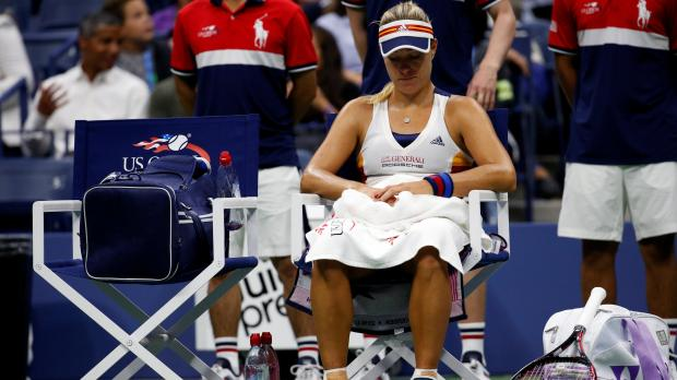 Angelique Kerber disappointed after her US Open exit.