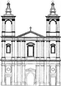 The final plan of the new church, which is being consecrated today