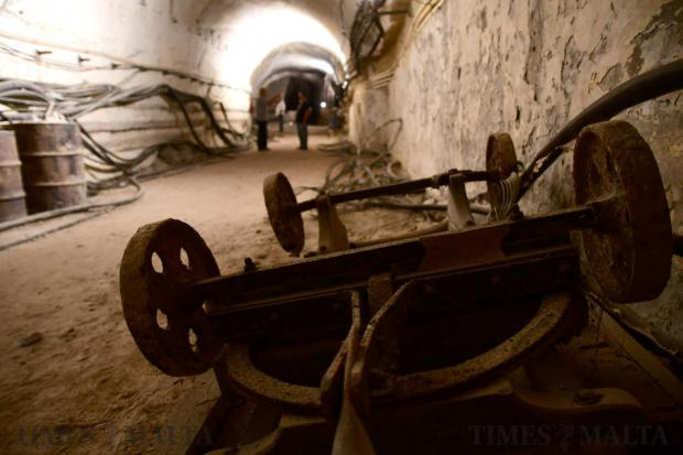The underground railway tunnels in Floriana during an open day on October 16. For years it has been in an abandoned state. The locality's council will now be looking into ways to open this space and turn it into a tourist attraction. Photo: Jonathan Borg
