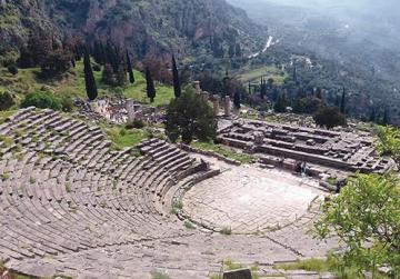The ancient theatre at Delphi.