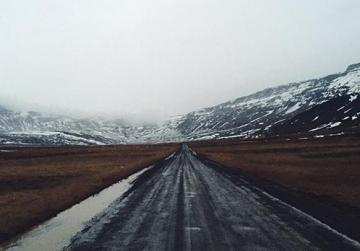 Treacherous mountain road from Hofn to Akureyri.